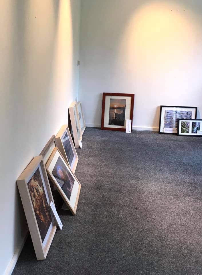 Birnam set up –getting things laid out across the gallery space