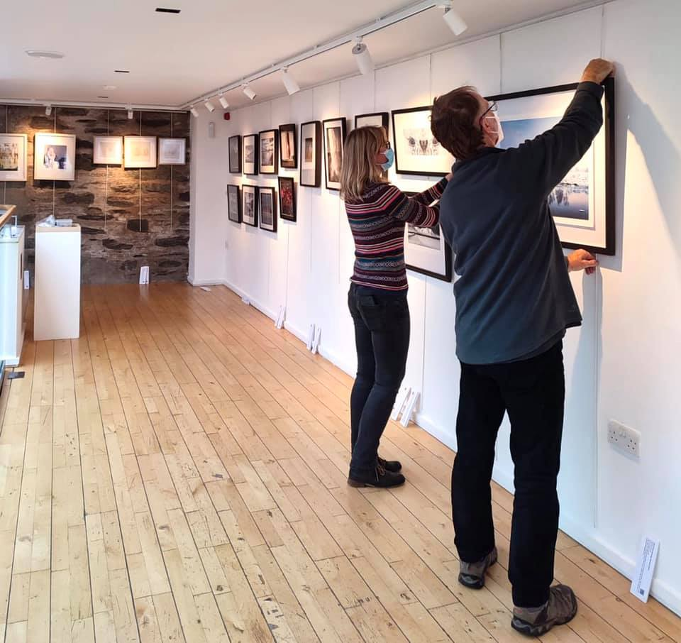 Birnam set up –measuring twice, even once on the walls